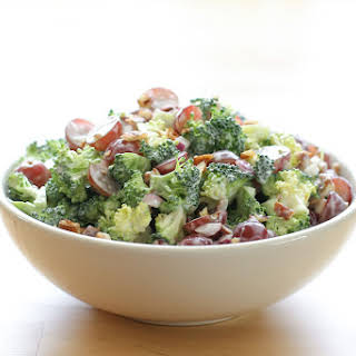 Broccoli Salad with Grapes.