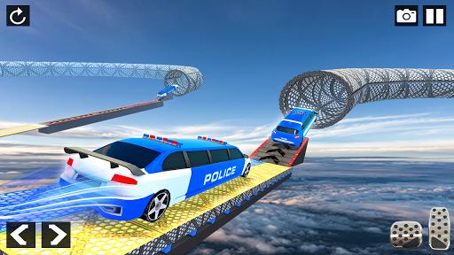 Police Limo Car Stunts - Mega Ramp Car Racing Game android2mod screenshots 1