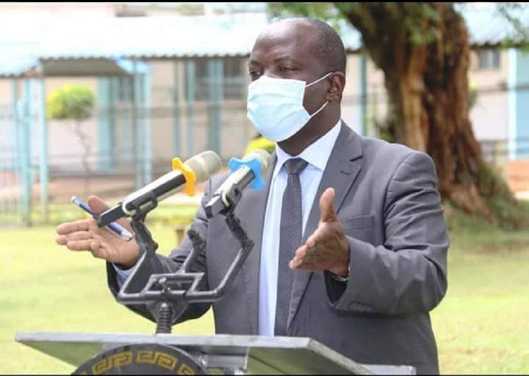 Kakamega health executive Collis Matemba at the county general hospital