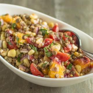 Lentil Salad with Sautéed Beans