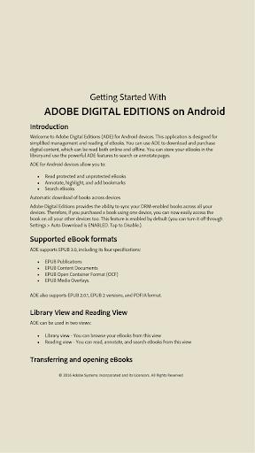 Adobe Digital Editions screenshot 2