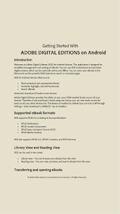 Adobe Digital Editions - náhled