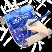 Dodger blue Keyboard Skin