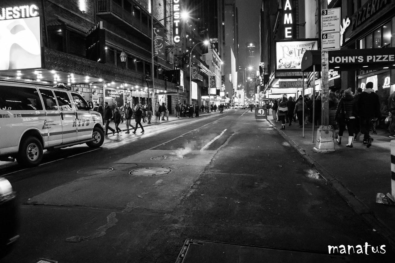calles de nueva york de noche