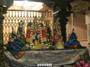 Photo: polindhu ninRa pirAn with srI bhU nILA dhEvis, Adhi nAchiyAr, kurugA nAchiyAr
