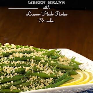 Make Ahead Green Beans with Lemon-Herb Panko Crumbs Recipe