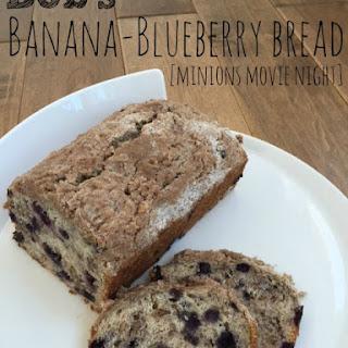 Bob's Banana-Blueberry Bread (Minions-Inspired)