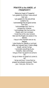 PRAYER to the ANGEL of PROSPERITY - náhled