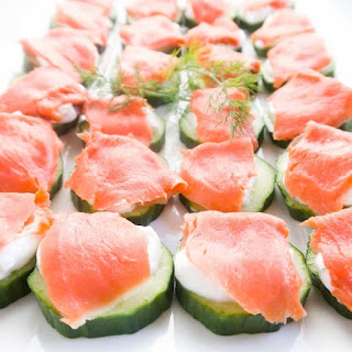Smoked Salmon Cucumber Bites (Low Carb, Gluten-Free) Recipe