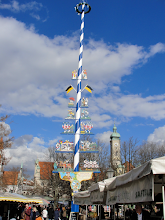 Photo: Bavarian insignia. Blue and white are the national colours of Bavaria