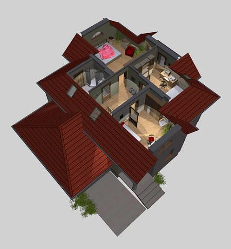 APS 010 - Rzut poddasza 3D