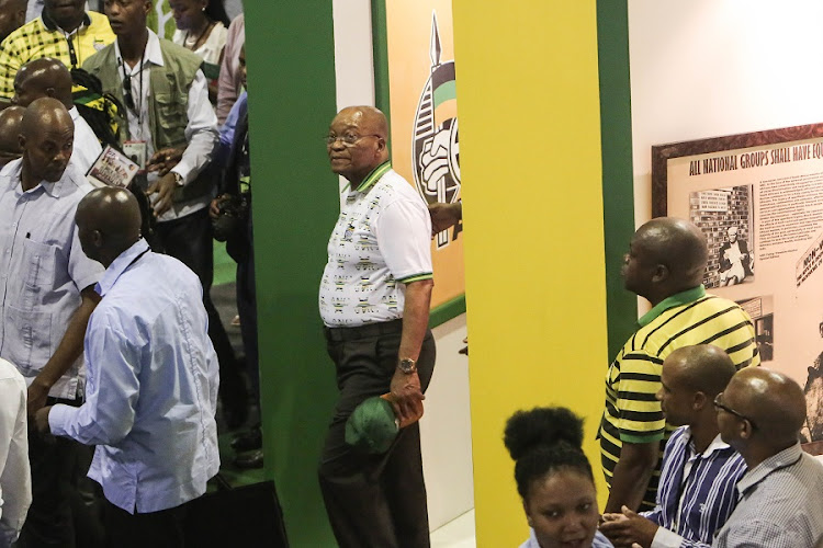 President Jacob Zuma at the national ANC Elective Conference in Nasrec, Johannesburg. Picture: ALAISTER RUSSELL