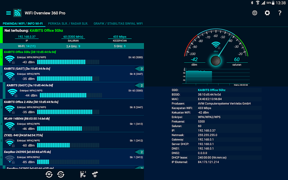 WiFi Overview 360 Pro Mod