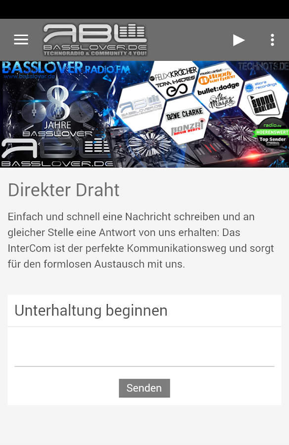 Radio Basslover – Screenshot