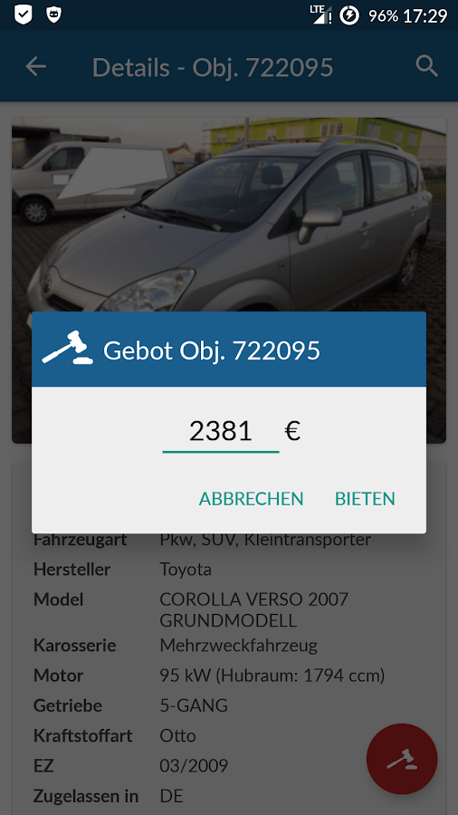 WinValue Automarkt- screenshot