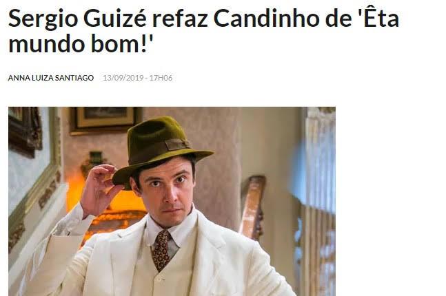 Coluna de Patrícia Kogut (O Globo) reforça a reprise de 'Êta Mundo Bom'