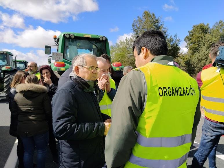 Representantes de las organizaciones agrarias. Foto: Asaja