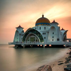 Selat Mosque by Azri Suratmin - Travel Locations Landmarks ( azri, sunset, selat mosque, azrisuratmin )
