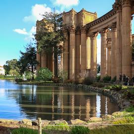 Palace Of Fine Arts by Kathy Suttles - City,  Street & Park  City Parks ( corinthian columns, san francisco, palace of fine arts )