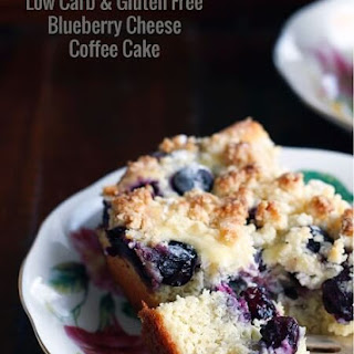 Low Carb Blueberry Cheese Danish Coffee Cake.