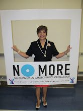 Photo: Speaker Judith T. Won Pat of the 32nd Guam Legislature stands against domestic violence and sexual assault!