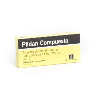 Propinox + Lisina Plidan Compuesto 10/125mg  x 10 Comprimidos Roemmers