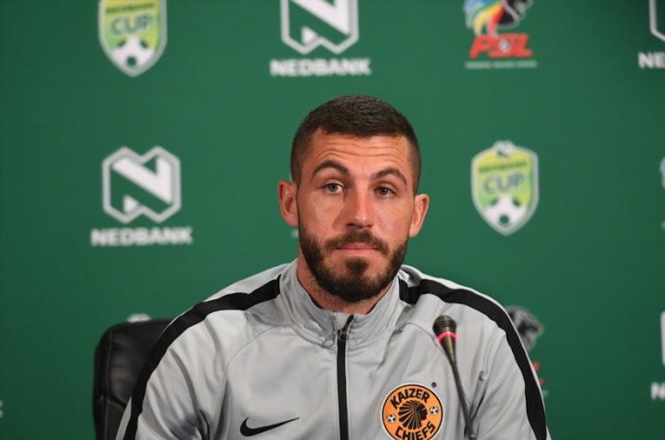 Daniel Cardoso during the Kaizer Chiefs Press Conference at PSL Offices on February 14, 2019 in Johannesburg, South Africa.