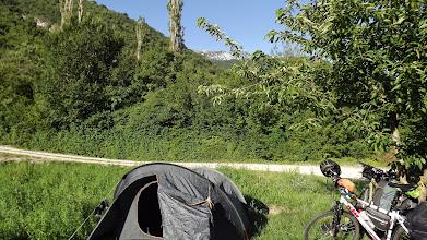 Photo: Táborhely a Cetina mellett