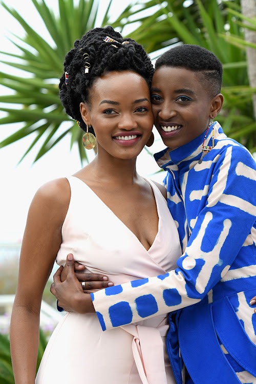 'Rafiki' actresses Sheila Munyiva and Samantha Mugatsia at the 2018 Cannes Film Festival