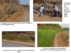 Photo: SEN-HYDR01 - Senegal - If road side drains are not properly maintained they quickly fill with upslope detrius - top left - and subsequently rainwater floods the road and will ultimately damage it