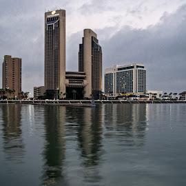 Corpus Christi by Richard Michael Lingo - City,  Street & Park  Skylines ( marina, city, skyline, texas, corpus christi )