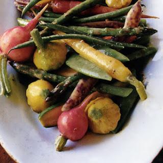 Pickled Spring Vegetables With Mustard-Seed Vinaigrette.