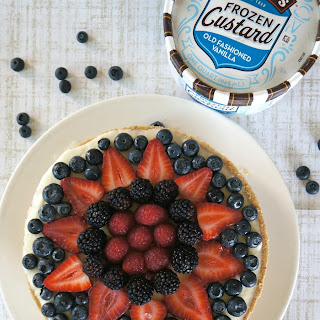 Frozen Mixed Berry Vanilla Custard Pie.