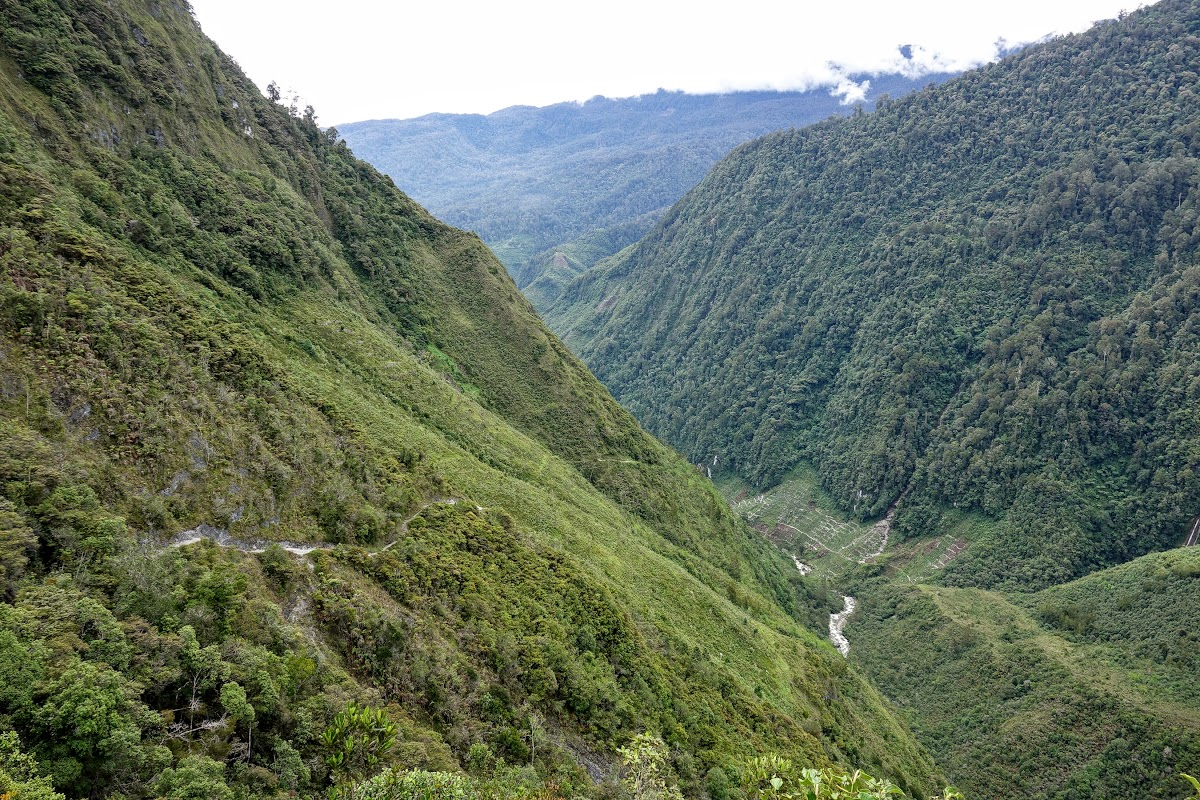 Indonesia. A Guide to Baliem Valley Trekking. Steep trails along one of the many Papua valleys