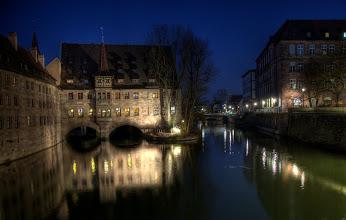 Photo: Heilig-Geist-Spital von der Museumsbrücke aus (in HDR)