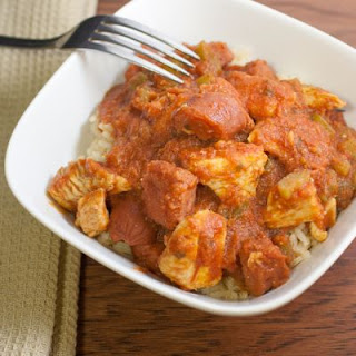 Slow-Cooked Chunky Tomato and Chicken Rice Medley