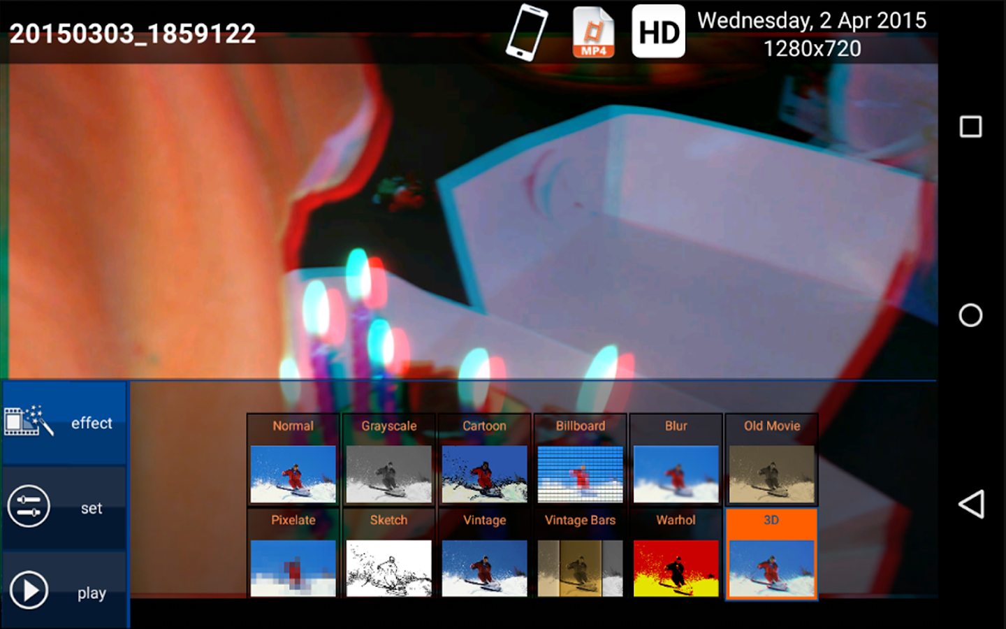 Screenshots of myVideos 3D+ for Android
