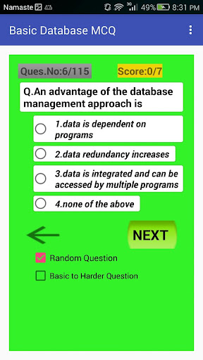 Database Basic Multiple Choice