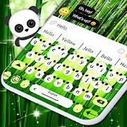Panda Bear Keyboard \ud83d\udc3c Bamboo Keyboard Themes