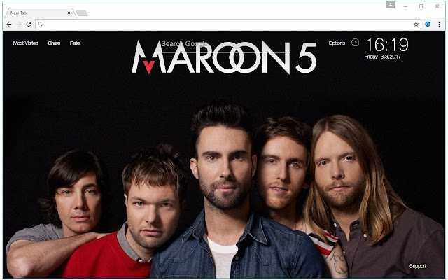 MTV Billboard Music Stars HD New Tab Themes