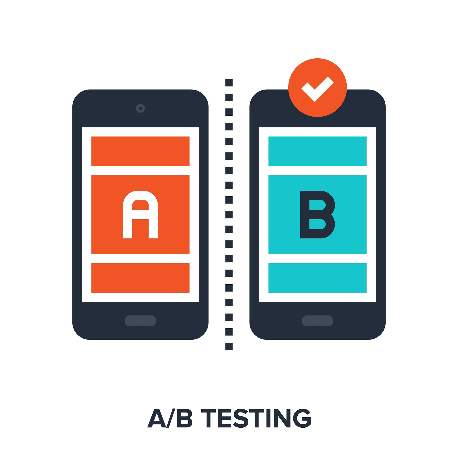 Two mobile phones representing A/B testing between Unbounce vs Leadpages vs Instapage.
