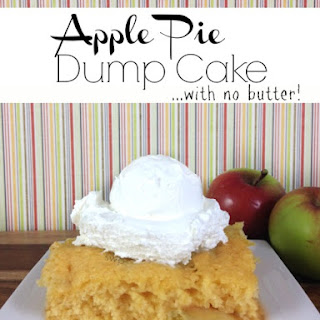 Apple Pie Dump Cake (with NO butter!)