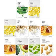 Buy The Face Shop Real Nature Daily Glow Mask Sheet, 200 g - Combo Pack of  10 Online at Low Prices in India - Amazon.in