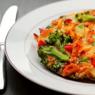 Blue Cheese, Dijon Mustard, Quinoa & Vegetable Frittata