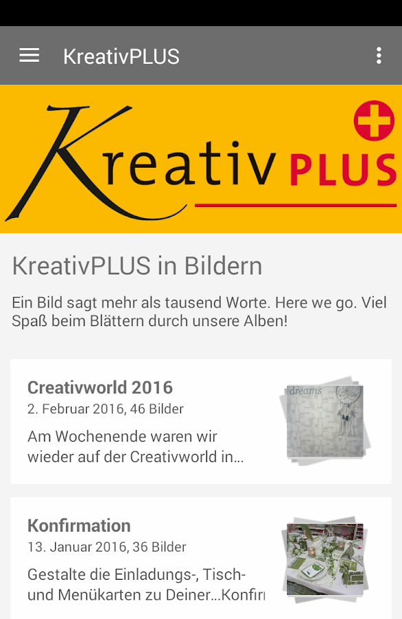 KreativPLUS- screenshot