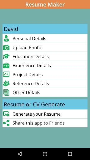instant resume cv maker free for pc