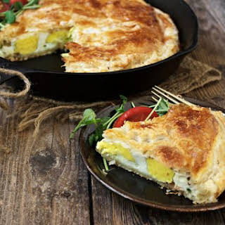 Skillet Bacon and Egg Pie.