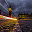 Lighttrails by Manu Heiskanen - Uncategorized All Uncategorized ( london, light, city, uk, cloudporn, cityscape, bigben, clouds, trails, lines )