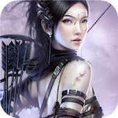 Fantasy Girl of war. Wallpaper