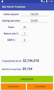Net Worth Predictor - náhled